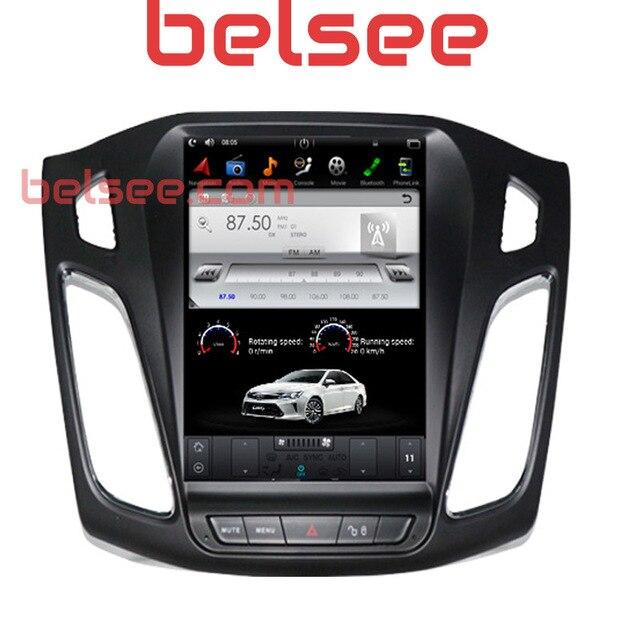 """Belsee для Ford Focus 2017-2012 Tesla стиль Радио сенсорный экран 7,1 """"Android 10,4 головное устройство обновление Авторадио навигации gps 2014"""