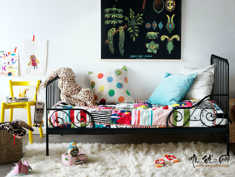 IKEA IKEA children's bed rental modern black wrought iron ...