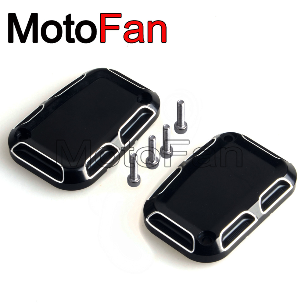 Motorcycle Front Brake Reservoir Master Cylinder Cover For Harley Davidson Road Electra Street Glide Ultra Limited Trikes 08-18 motorcycle front