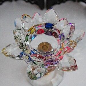 Image 4 - XINTOU portavelas de Metal con diseño de flor de loto, candelabros con diseño de flor de loto, decoración para el hogar Feng Shui