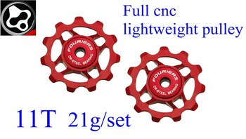 FOURIERS Bike Full cnc lightweight pulley For Shimano 8 9 10 11-Speed Steel come wiht ceramic bearing 11T 21g Bicycle Parts