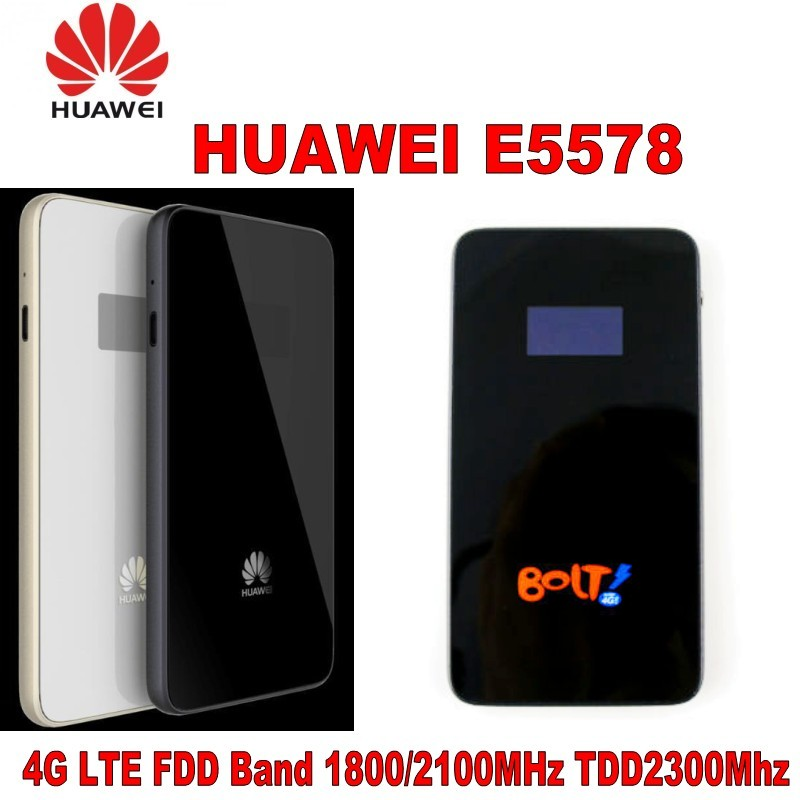 UNLOCKED HUAWEI E5578 LTE FDD/TDD Mobile Broadband Devices 4G 150Mbps WiFi Modem