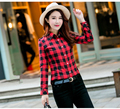 2017 Spring Ladies Casual Long Sleeve Plaid Shirts Women Blouses Flannel Outerwear Blouse Tops Blusas Y Camisas Mujer