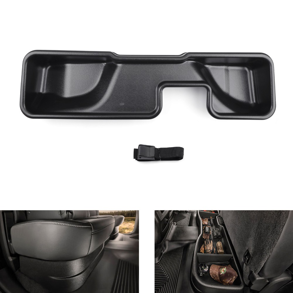 Areyourshop Car Under Seat Storage Box Double Cab 09041 For Silverado/for Sierra 2014 2018 2015 2016 2017 Car Auto accessories-in Stowing Tidying from Automobiles & Motorcycles    1