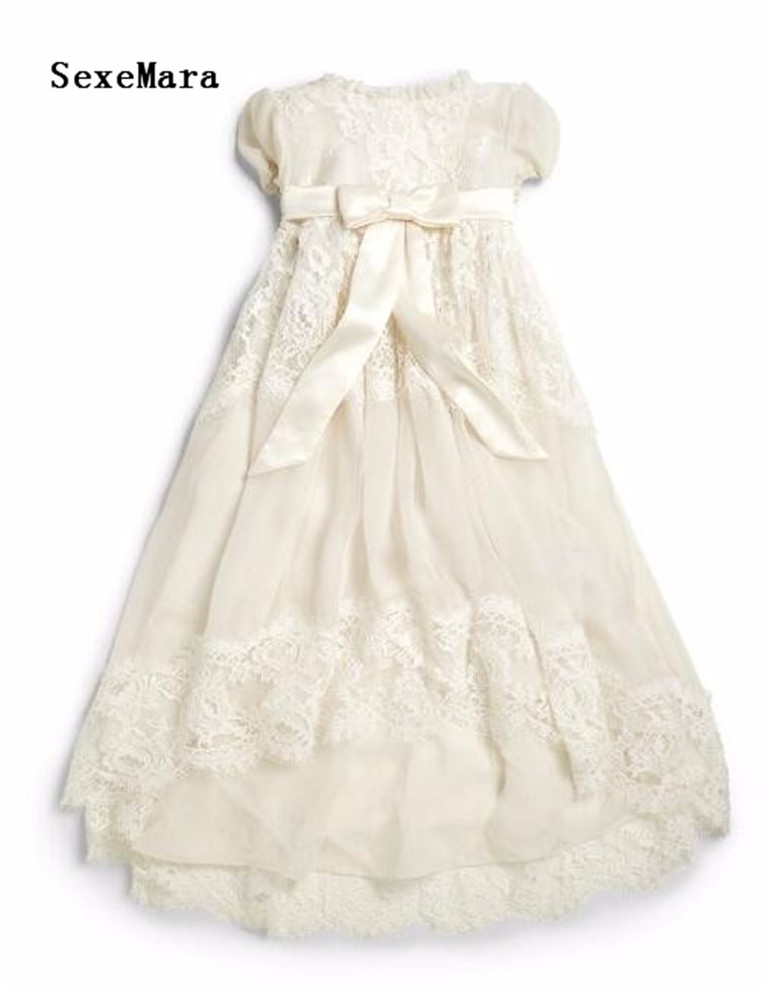 Enchanting Christening Dress Baby Girl Baptism Gown Lace Applique Ivory White High Quality Custom outfit Newborn 3M 6M 12M 24MEnchanting Christening Dress Baby Girl Baptism Gown Lace Applique Ivory White High Quality Custom outfit Newborn 3M 6M 12M 24M
