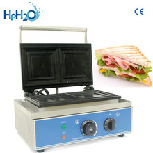 Commercial Non-stick electric breakfast Sandwich maker two slice sandwich toaster machine(China)