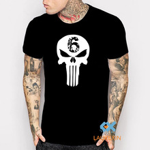The Punisher Skull Men Fashion T Shirt Navy Seal Team Print Mens camisetas hombre Clothing harajuku Style tshirt homme