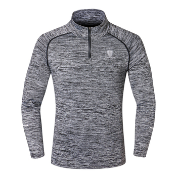 NEW Sport Men Quick Dry T-shirt Long Sleeve
