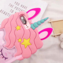 Glittering 3D Unicorn Phone Case for iPhone