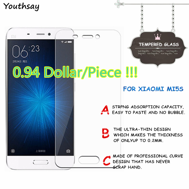 2pcs For Glass Xiaomi Mi5s Tempered Glass For Screen Protector Xiaomi Mi5s Glass Film For Xiaomi Mi 5s Protective Film Youthsay
