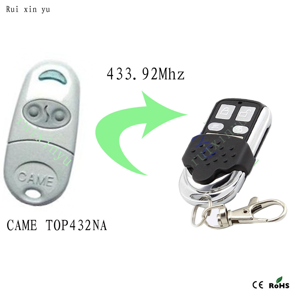 Copy CAME TOP432NA Duplicator 433.92 mhz remote control Universal Garage Door Gate Fob Remote Cloning 433mhz Transmitter universal cloning cloner 433mhz electric gate garage door remote control key fob