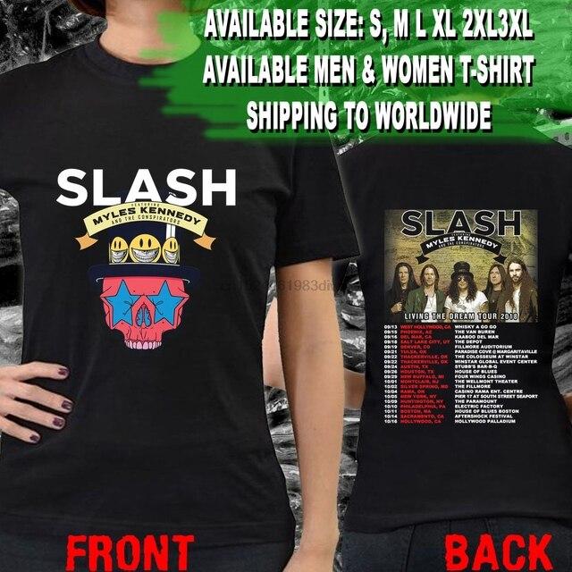 19f90e8d Slash ft. Myles Kennedy Living The Dream Tour Dates 2018 Tee T - Shirts S- 3XL U4