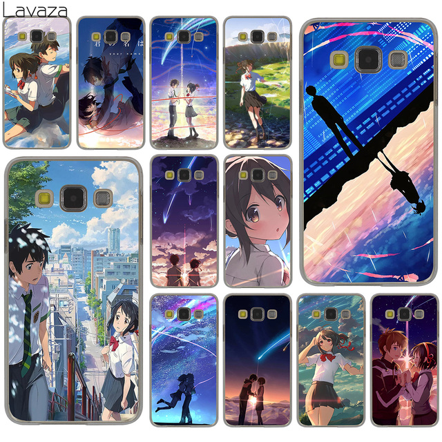 brand new 2dc7e b30f5 US $1.99 22% OFF|Lavaza Kiminonawa Your Name Japanese anime Hard Case for  Samsung Galaxy S10 S10E S8 Plus S6 S7 Edge S9 Plus Phone Cover-in ...