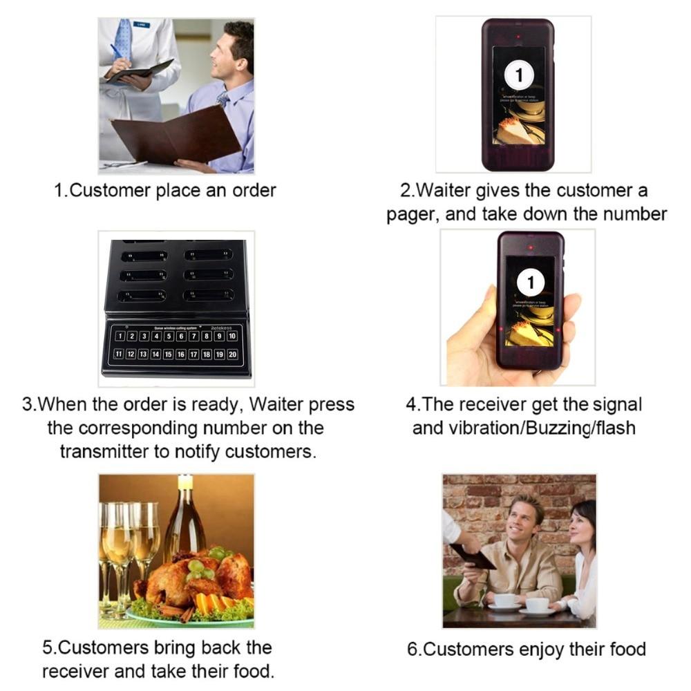 RETEKESS T111 Restoran Pager Ofisiant Zəng Sistemi Simsiz Ötürmə - Ofis elektronikası - Fotoqrafiya 3