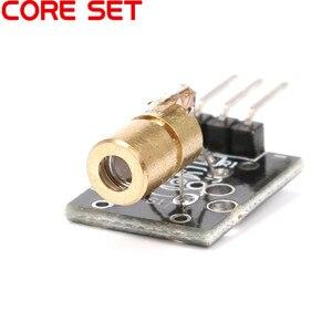 Фонарь с красным лазерным датчиком, 650 нм, 6 мм, 5 В, 5 мВт, красный лазерный передатчик, точечный диод, Медная головка для Arduino