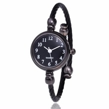 Female Clock Watches Bracelet Gif Dial Elegant Silver Ladies Wrist Roman Small Simple