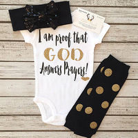 2017 3Psc Cute Baby Girl Outfit Set Bodysuit Jumpsuit Top Leg Warmer Socks Headband Baby Clothes