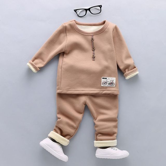Top quality baby clothes Baby boy gril Autumn/Winter Keep warm kids clothes sets coat+pants suit ewborn sport suits