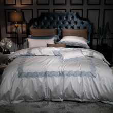 4pcs high tc egypt cotton classic retro antiquity luxury bedding set lace duvet cover set bed sheet pillowcases queen king size
