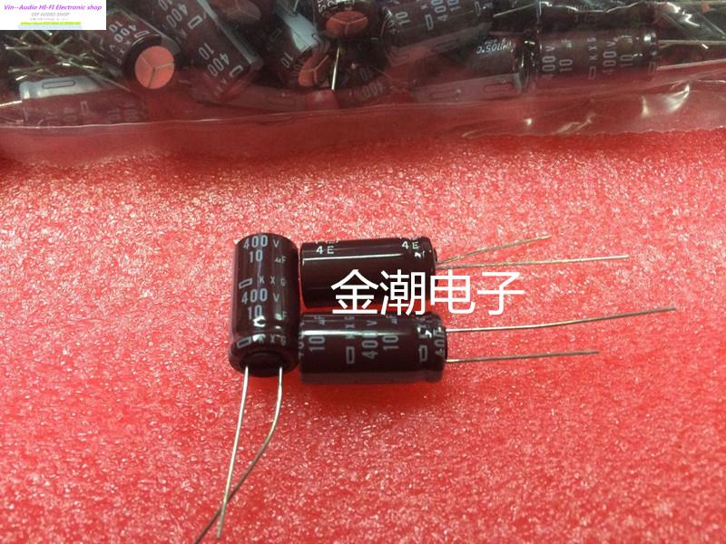 2018 hot sale 100PCS NIPPON 400V10UF 10X20 KXG series of high frequency low impedance capacitance 10UF 400V FREE SHIPPING-in Capacitors from Electronic Components & Supplies