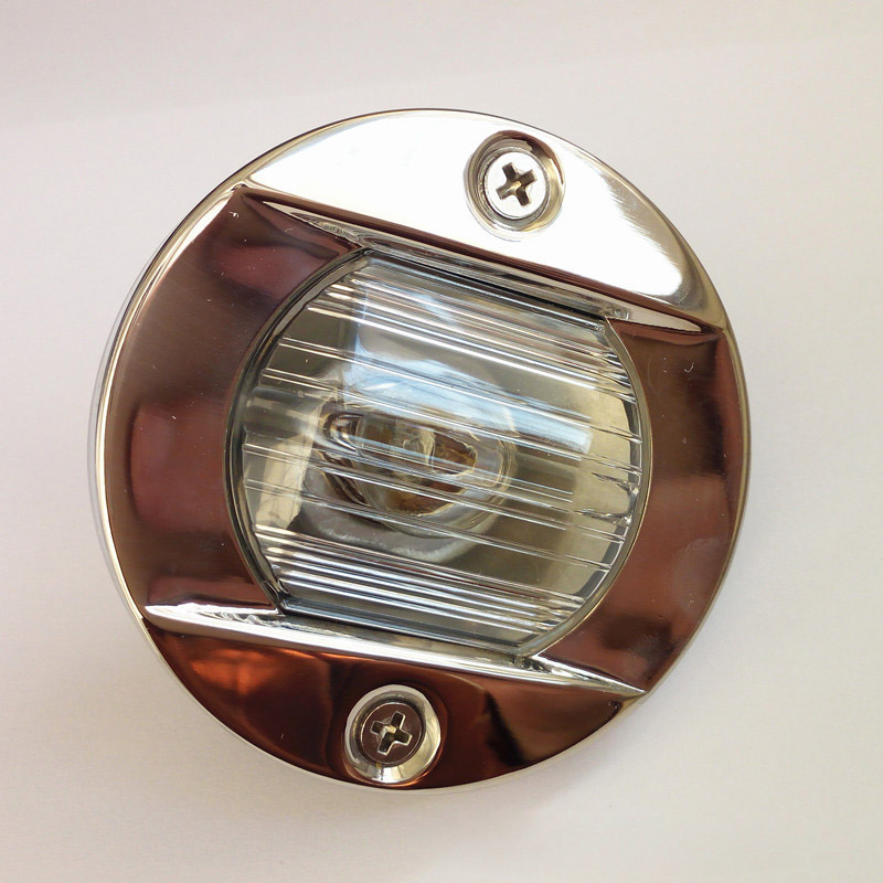 Round Stainless Steel 12V 24V Marine Boat Tail Light 8W Tungsten Bulb Navigation Lamp Waterproof-in Marine Hardware from Automobiles & Motorcycles