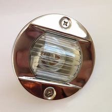 Round Stainless Steel 12V 24V Marine Boat Tail Light 8W Tungsten Bulb Navigation Lamp Waterproof