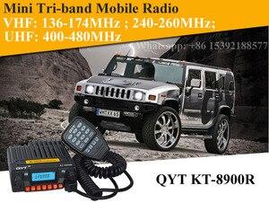 Image 5 - ثلاثي الفرقة راديو المحمول 136 174/240 260/400 480MHz جهاز إرسال واستقبال محمول صغير QYT KT 8900R