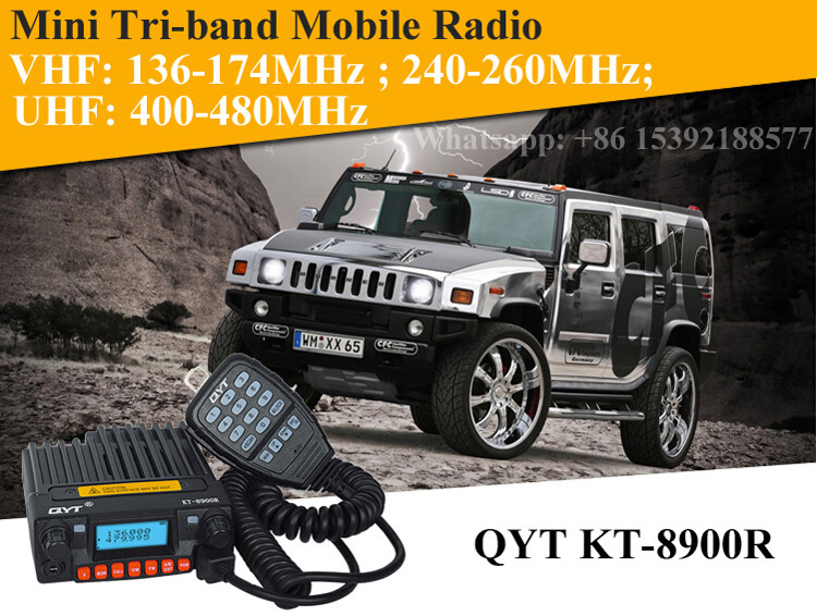 Image 5 - Tri band Mobile Radio 136 174/240 260/400 480MHz Mini Mobile Transceiver QYT KT 8900R-in Walkie Talkie from Cellphones & Telecommunications