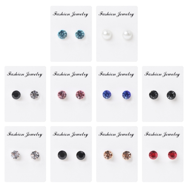 1 Pair Bio Magnetic Therapy Earrings Slimming Weight Loss Healthy Stimulating Acupoints Stud Earring Fat burning Beauty tool
