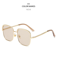 GYKZ 2019 Fashion Square Frame Polarized Sunglasses Women Luxury Gradient Brand Designer Vintage Glasses UV400 Shades Oculos