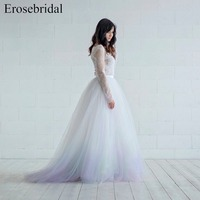 dip dyed Aurora wedding tulle skirt Petticoat Wedding Accessories Cleo Tulle Bridal Separates Long tulle skirt ES154