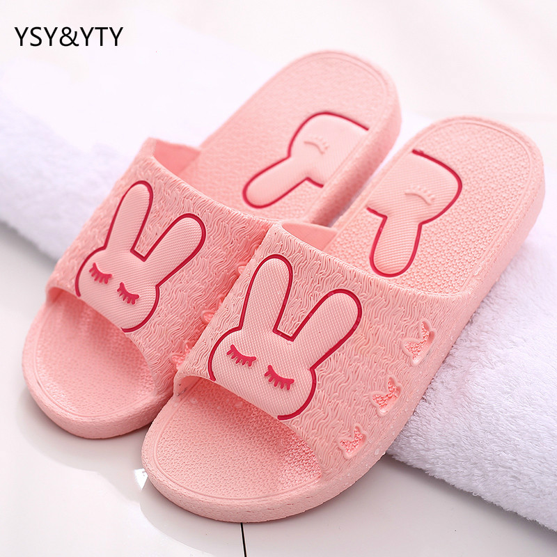 2018 Cool slippers female summer cute cartoon couple living in the home of non-slip plastic indoor floor bathroom slippers male 2018 natural tropical royal cane couple home slippers rattan straw weave female slippers bamboo rattan summer slippers