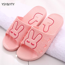2017 Cool slippers female summer cute cartoon couple living in the home of non-slip plastic indoor floor bathroom slippers male summer slippers han edition in female household linen floor indoor slippers antiskid couples lovely cool men s slippers home