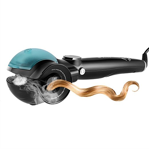 Hair Curler Curling Iron Professional Automatic Hair Curlers with Spray Function LCD Display Spray Curl Machine automatic hair steam curler ceramic curling iron wand salon professional auto rotating styling steamer spray curl spiral machine