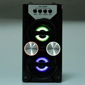 Image 3 - Heißer Tragbare Ms 209Bt Karte Wireless Bluetooth Lautsprecher Fm Radio Outdoor Lautsprecher Audio High Power Tf Usb Musik Lautsprecher