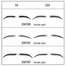 Neitsi cejas falsas de pelo humano, hechos a mano nuevos, Base de encaje para mujeres, para fiesta, boda, Cosplay, Estrella