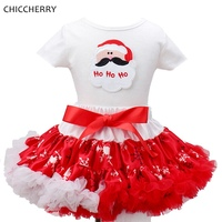 Santa Claus Christmas Costume for Kids Clothes Top Lace Tutu Skirts Children Girls Clothing Sets Vetement Fille Christmas Gift