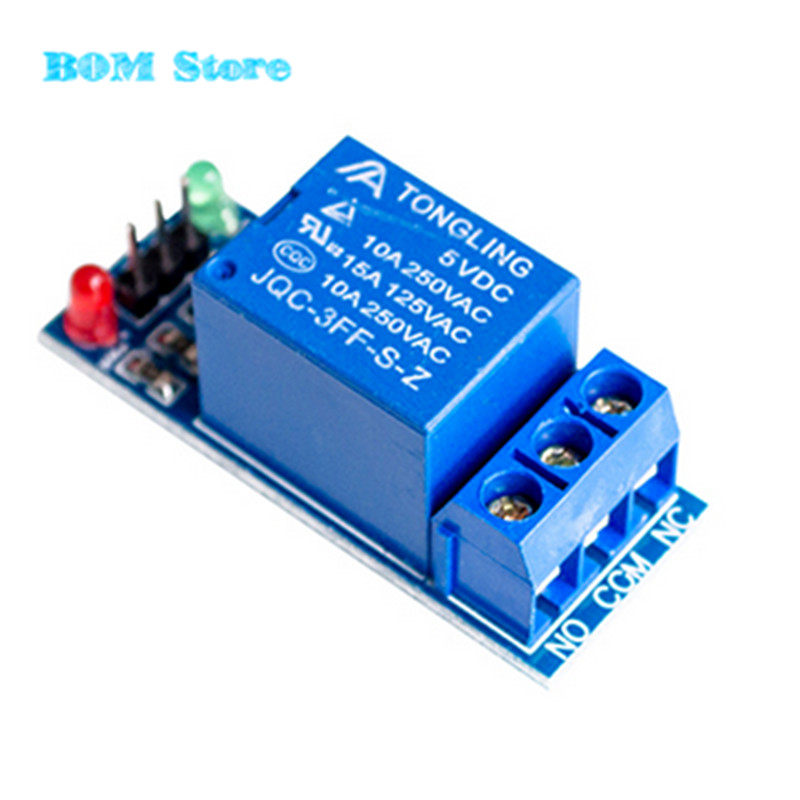 Free Shipping 5V low level trigger One 1 Channel Relay Module interface Board Shield For Arduino PIC AVR DSP ARM MCU DC AC 220V 1 channel 5v relay module high level trigger expansion board for arduino relays