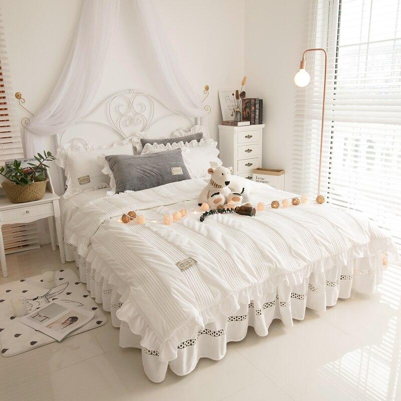 korean bedding set super soft fleece fabric duvet cover