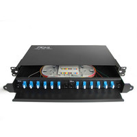 Rack Mount fiber termination box patch panel optical distribution frame ODF for LC 12 core pigtail