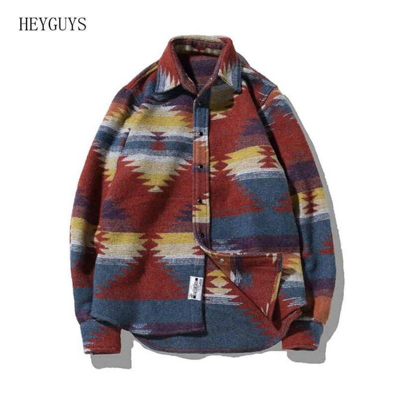 Gris Laine Flanelle Streetwear chemises Grande De Chemise Décontracté Robe Loisirs Hommes Folk Cru Motif Homme rouge Taille Pour Xp4waXqxB