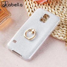AKABEILA Phone Cover Case For Samsung Galaxy S5 G900F G900I G900M G900A G900 G900K G900L G900S I9600 Case Glitter Silicone Cover