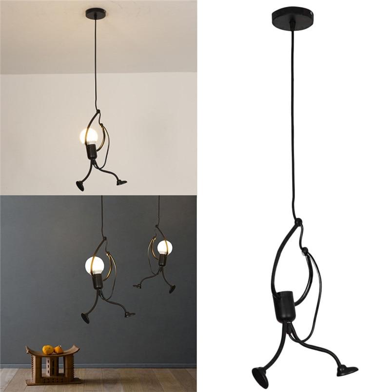 Modern Charming Hanging Chandelier Creative Iron People Lamp Elegant Hanger  (3)