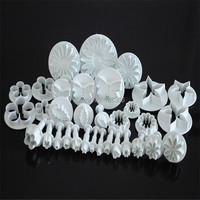 Hot Sale 33pcs Cake Decorating Tools Set Fondant Biscuit Cookie Cutter Embossing Molds With Spring Plastic