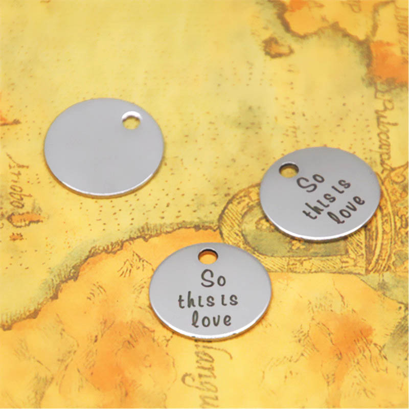 10pcs//lot Cinderella inspired charm So this is the love silver tone charm 20mm