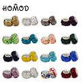 HOMOD 16 Colors 1 pcs Crystal Beads fit Pandora Charm Bracelet for Women DIY Jewelry Christmas Gift Wholesale