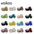 HOMOD 16 Cores 1 pcs Contas De Cristal fit Pandora Charm Bracelet para As Mulheres Jóias DIY Presente de Natal Atacado
