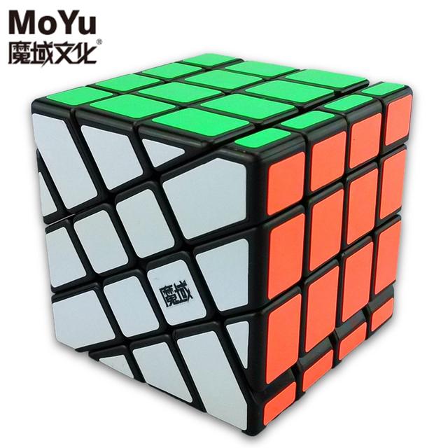Marca MoYu Aosu Hot Roda 4x4x4 Estranho YJ8236 Enigma Velocidade Cubo Mágico Cubos