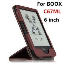 """Para BOOX C67ML eBook Reader Protector Elegante de La Cubierta Protectora de LA PU Carta de cuero Para boox C67ML C67ML Carta 2 de La Manga 6 """"Casos"""