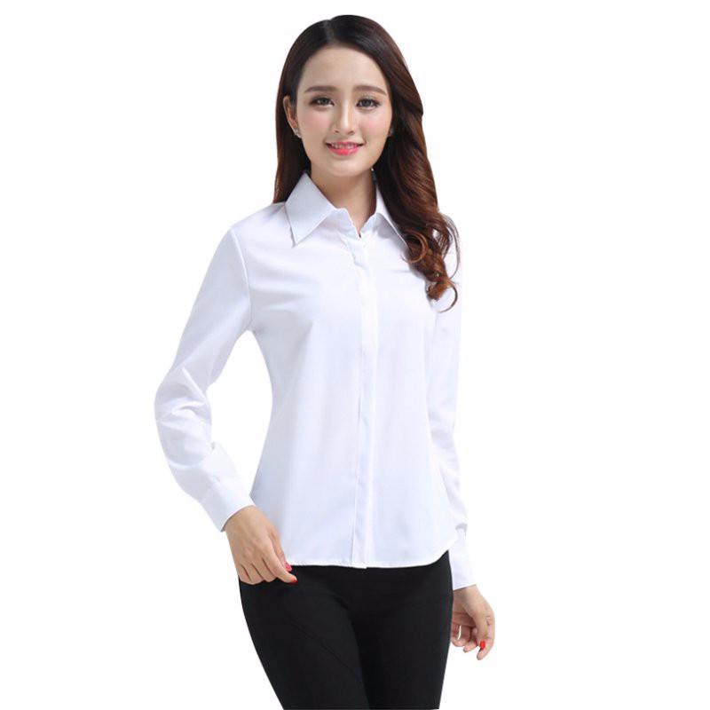 HTB1m5ZcNpXXXXb9XpXXq6xXFXXXs - FREE SHIPPING White Blouse Shirt Women Work Wear Long Sleeve JKP092